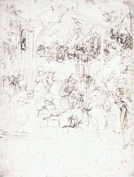 Leonardo da Vinci Design for the Adoration of the Magi